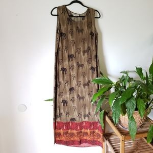 Vintage Dressbarn maxi dress size 8